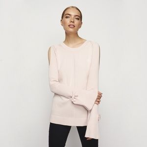 NWT Karl Lagerfeld Blush Bell Sleeve Bow Sweater